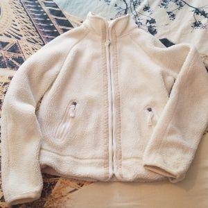Girls puff fleece coat